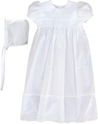 Little Things Mean a Lot Cotton Eyelet Christening Gown