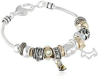 Tone Dog Themed Charm Bracelet