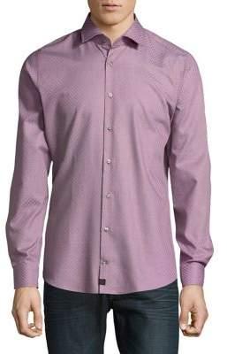 Strellson Plaid Cotton Button-Down Shirt