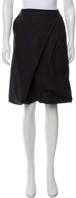 Donna Karan Knee-Length A-Line Skirt Black Knee-Length A-Line Skirt