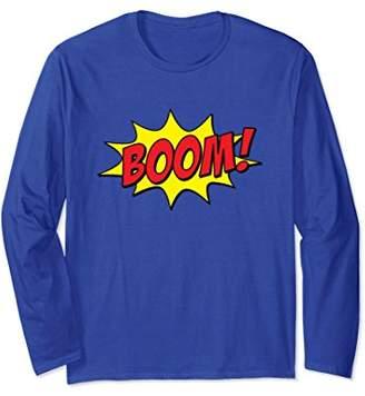 Boom! Comic Book Bubble Long Sleeve Superhero T-Shirt