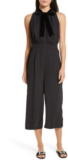 Women's Kate Spade New York Mixed Velvet Crop Jumpsuit