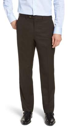 John W. Nordstrom R) Torino Traditional Fit Flat Front Solid Trousers