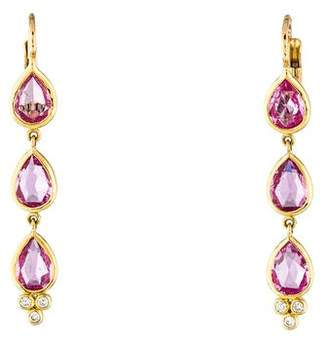 Temple St. Clair 18K Pink Sapphire & Diamond Drop Earrings