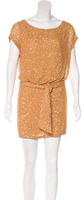 Haute Hippie Short Sleeve Sequined Tunic