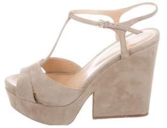 Sergio Rossi Suede T-Strap Sandals Suede T-Strap Sandals