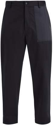 Moncler Mid-rise patch-pocket cotton trousers