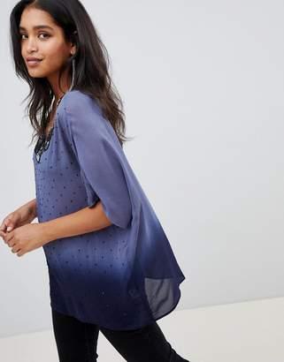 Deby Debo Amira T-Shirt with Embellished Neck Trim