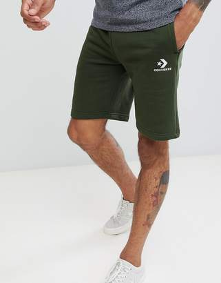 Converse Logo Jersey Shorts In Green 10009143-A01