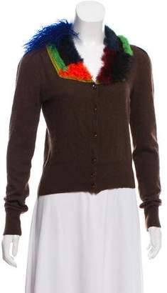Etro Fur-Trimmed Cashmere Cardigan