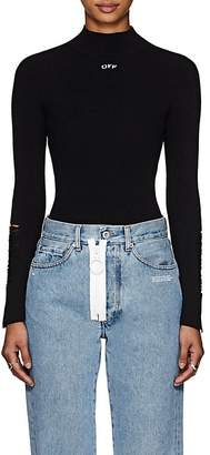 Off-White Women's Distressed Rib-Knit Top