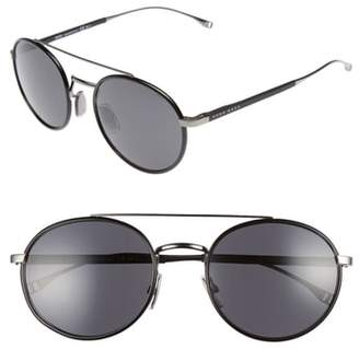BOSS 55mm Round Sunglasses