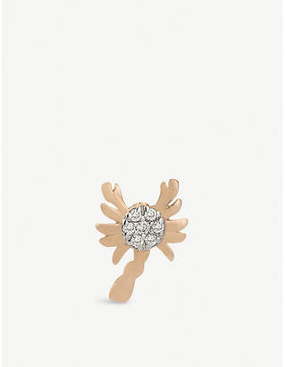 The Alkemistry Kismet By Milka Scorpio 14ct rose gold stud earring