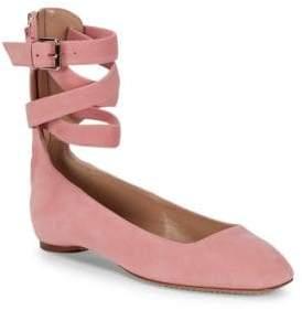 Valentino Crisscross Suede Ballet Flats
