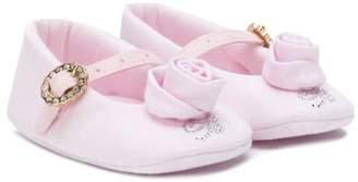 Miss Blumarine studded rose ballerinas