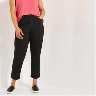 Joe Fresh Women+ Dark Wash High Rise Ankle Jeans, Dark Wash (Size 18)