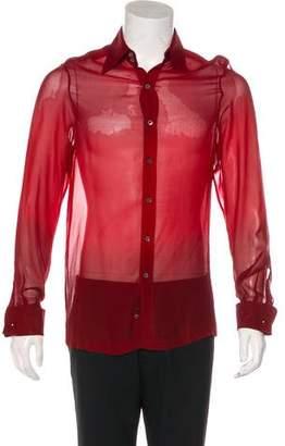 Gucci Sheer Silk Shirt