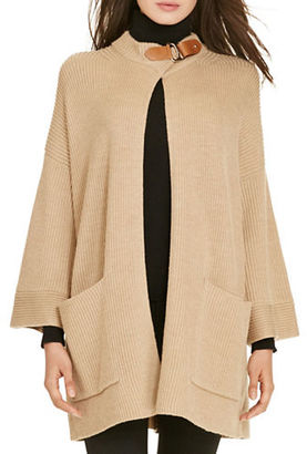 Polo Ralph Lauren Leather-Trim Wool Cardigan $245 thestylecure.com