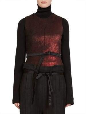 Ann Demeulemeester Metallic Wool Vest