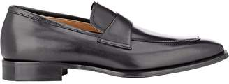 Barneys New York MEN'S LEATHER APRON-TOE LOAFERS