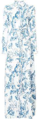 Oscar de la Renta floral toile shirt dress