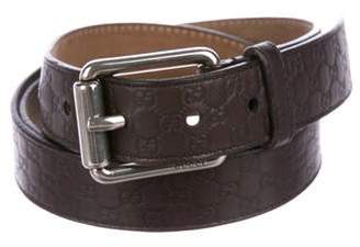 Gucci Guccissima Leather Skinny Belt
