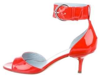 Frances Valentine Patent Leather Ankle-Strap Sandals Frances Valentine Patent Leather Ankle-Strap Sandals