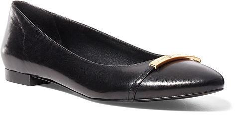 Ralph Lauren Lauren Farrel Leather Flat