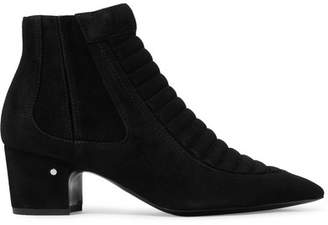 Laurence Dacade Sully Quilted Suede Ankle Boots - Black
