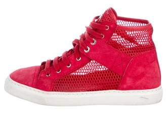 Chanel CC Mesh High-Top Sneakers