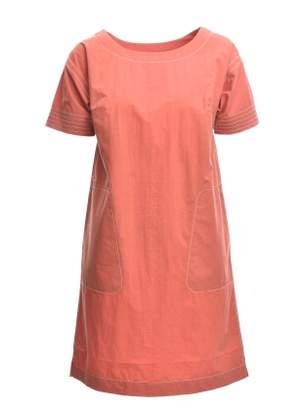 Folk Kimono Dress in Umber