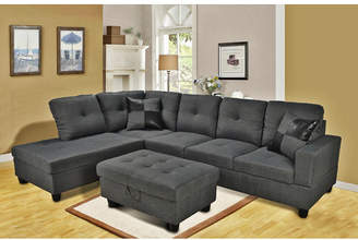 Andover Mills Russ Sectional with Ottoman
