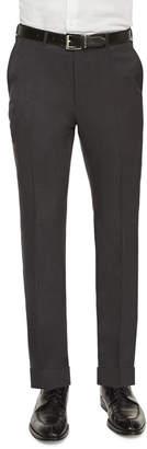 Ermenegildo Zegna Flat-Front Wool Trousers