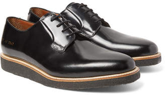 Common Projects Polished-Leather Derby Shoes - Men - Black