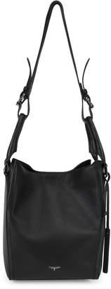 T Tahari Jordan Leather Convertible Bucket Bag