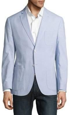 Textured Notch-Lapel Jacket