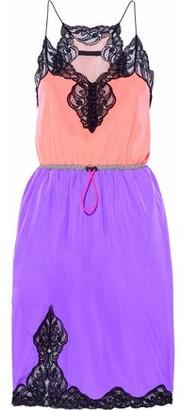 Alexander Wang Color-Block Lace-Paneled Shell Mini Dress