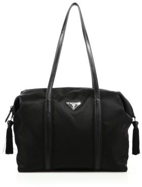 Prada Nylon & Leather Tassel Duffle Bag $1,180 thestylecure.com