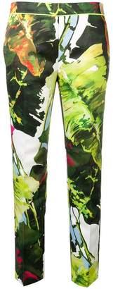Blugirl leaf print trousers