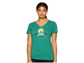 Life is Good Vista Hike Crusher Vee T-Shirt
