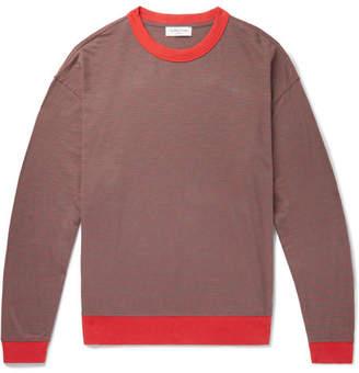 YMC Oversized Striped Cotton-Jersey T-Shirt - Men - Red
