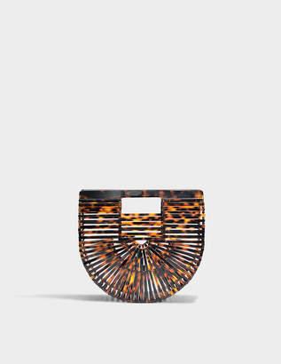 Cult Gaia Acrylic Ark Mini Bag in Tortoise Acrylic