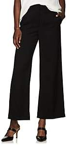 The Row Women's Ina Wool Crop Wide-Leg Trousers - Black