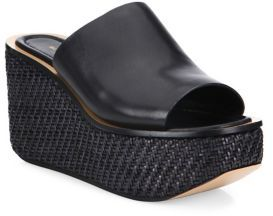 Michael Kors Collection Jane Leather Wedge Platform Mules $525 thestylecure.com