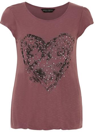 Dorothy Perkins Stud heart motif bubble top