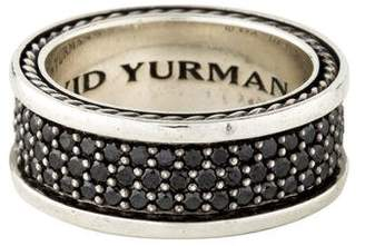 David Yurman Black Diamond Three-Row Streamline Band
