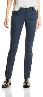 Street One Women's Yella Yoke MW Slimfit Straightleg Trousers,(Manufacturer Size: 44)