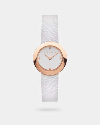 Ted Baker SERENAS Lizard print leather strap watch