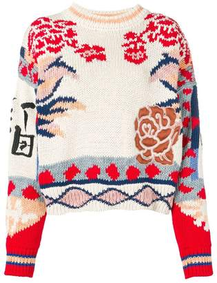 Etro embroidered floral jumper