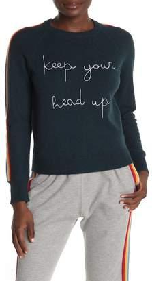 Spiritual Gangster Head Up Rainbow Stripe Wool Blend Sweater